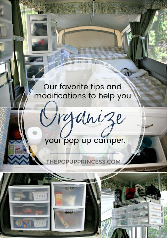How We Organize Our Pop Up Camper is part of Popup camper - Organizing your pop up camper can making packing for a camping trip a breeze  Here are our best tips for getting the most out of your camper's space