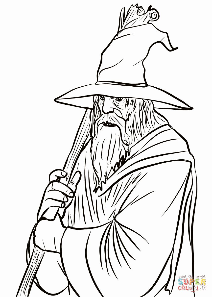 Lord Of The Rings Coloring Book Lovely Gandalf Coloring Page Coloring Pages Coloring Books Gandalf