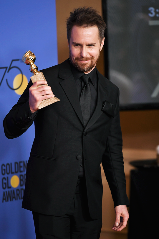 Sam Rockwell - Best Performance by an Actor in a Supporting Role for Three Billboards Outside Ebbing, Missouri  75th Annual Golden Globe Awards, Los Angeles | January 7, 2018