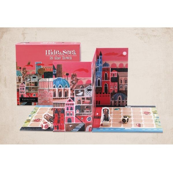 "Board game ""Hide in the town"" by Marbushka"