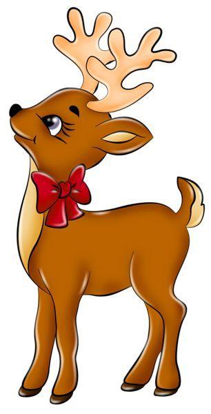 Renne Pere Noel Cute Reindeer PNG Picture | Christmas art, Christmas drawing