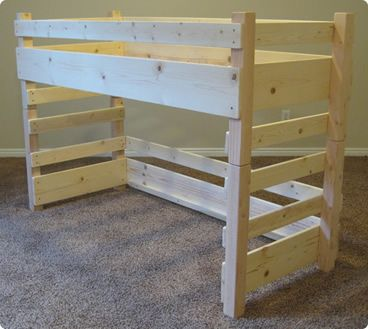 Build Two Loft Beds Side By Side Using Crib Mattresses Diy Loft