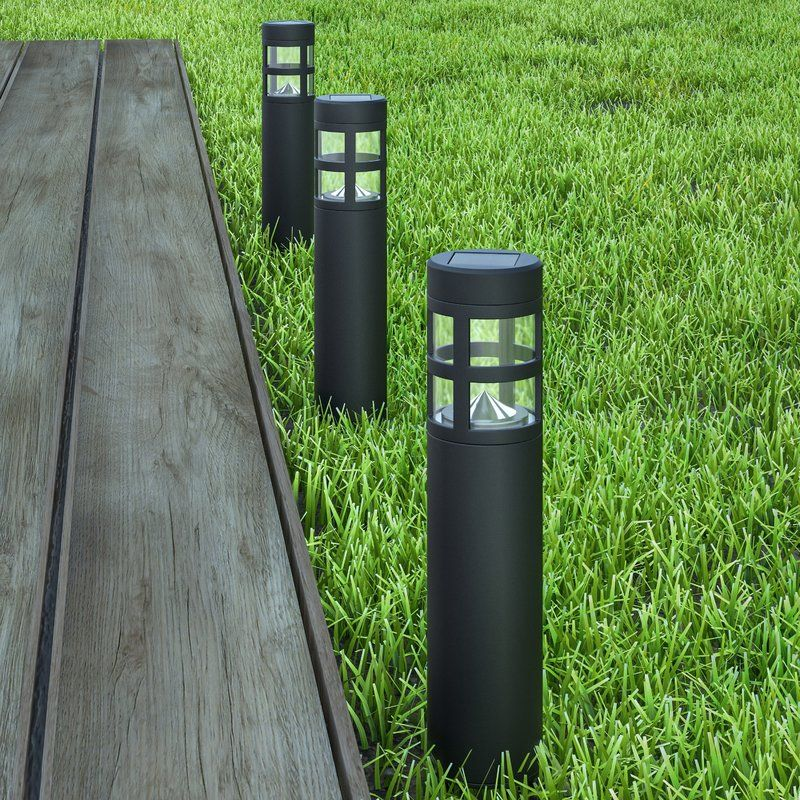 Solar Powered Led Bollard Light Pack Bollard Lighting Pure Garden Driveway Lighting