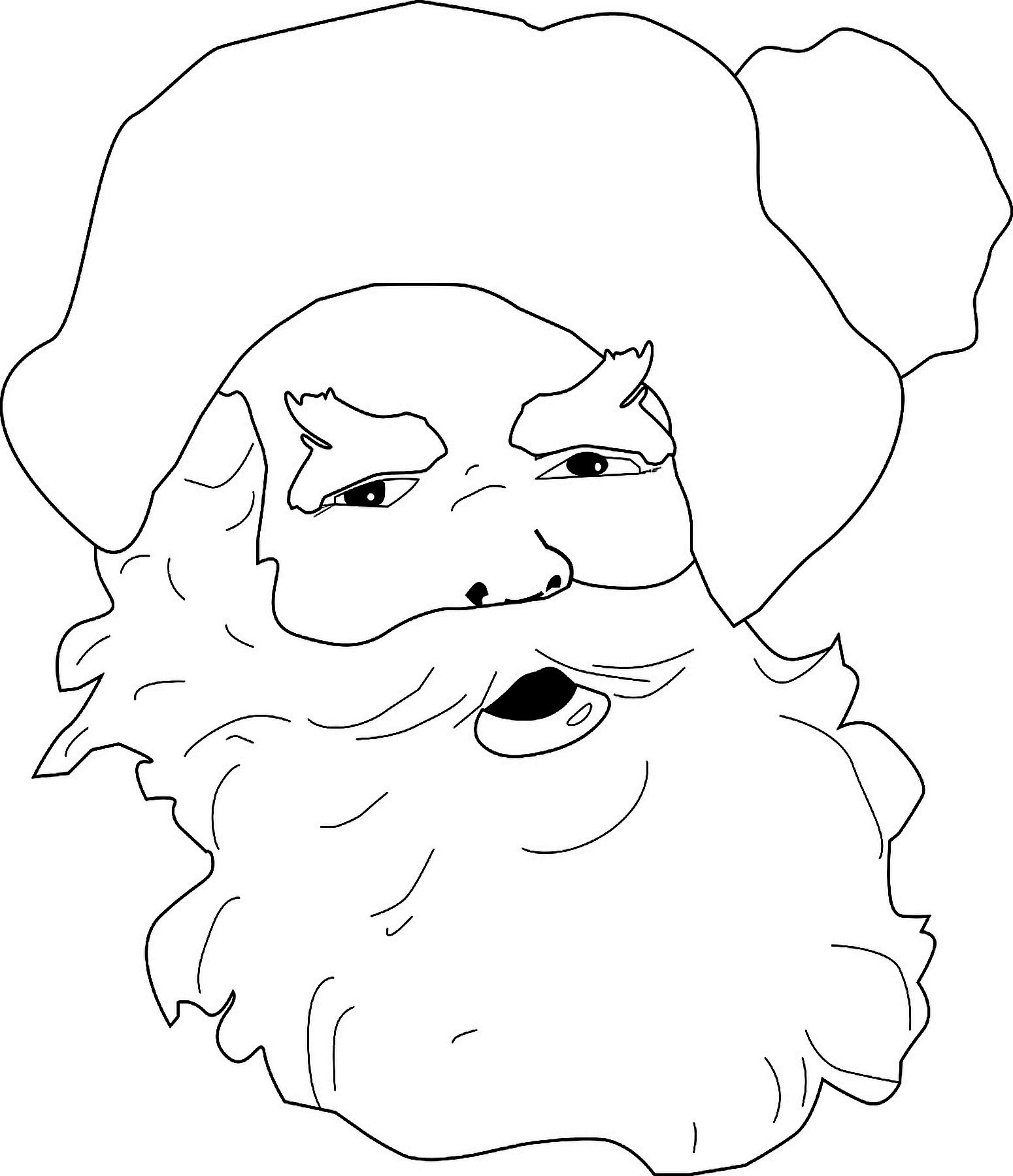 Free Santa Claus Coloring Page | Multi Use Line Patterns | Pinterest ...
