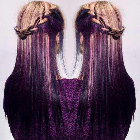 Purple And Blonde Hair Hair Styles Hair Ombre Hair