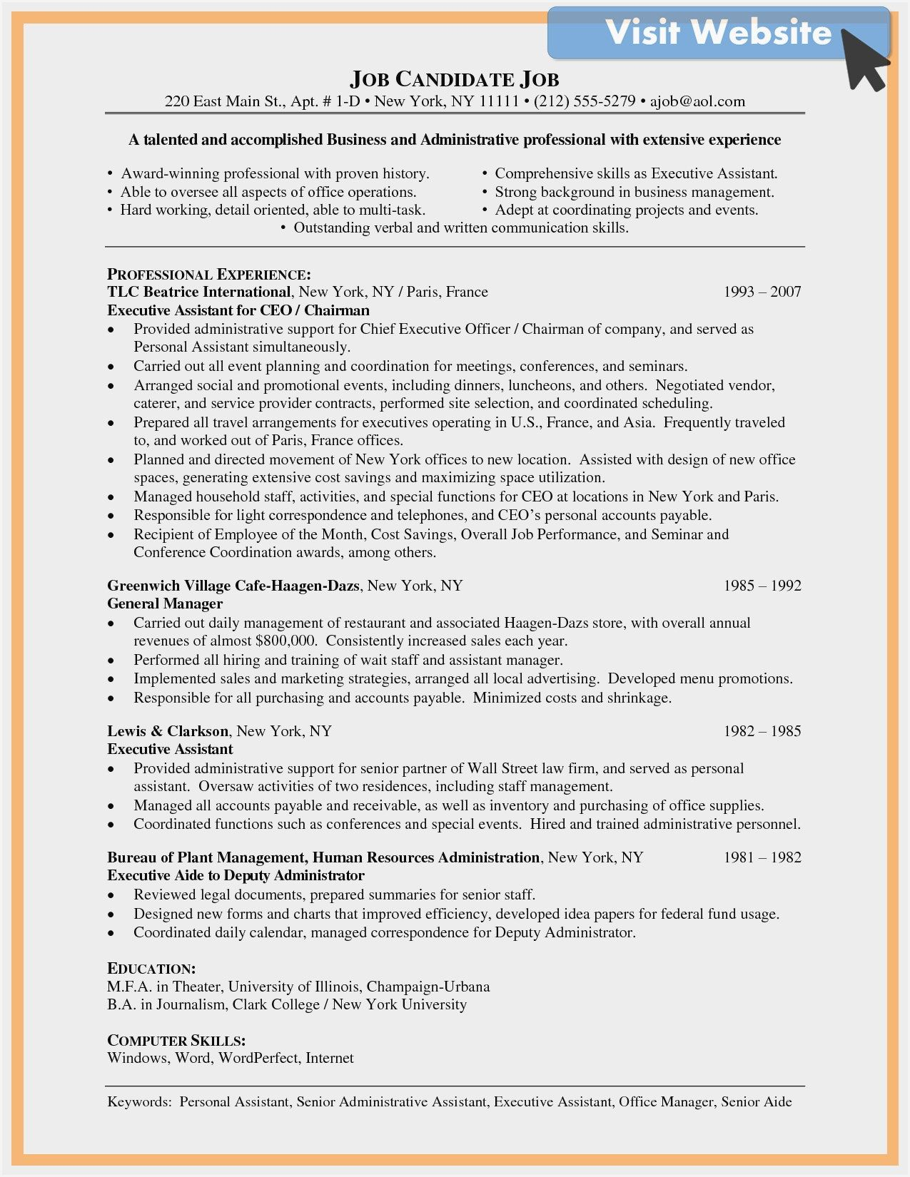 Pin On Administrative Manager Resume Example