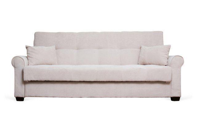 Alexandra 88 Sleeper Sofa Cream