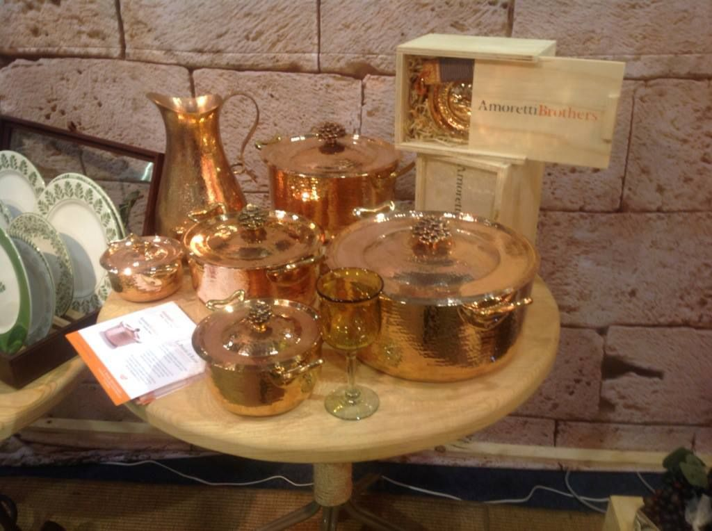 copper cookware expo Habitat | Hammered Copper Cookware ...