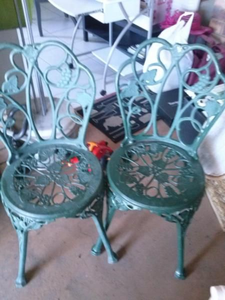 Rustic Wrought Iron Chairs Miscellaneous Goods Gumtree