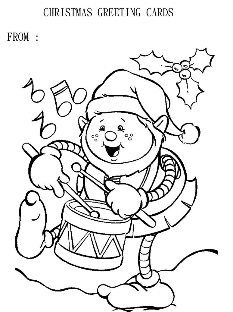 greeting cards christmas coloring page