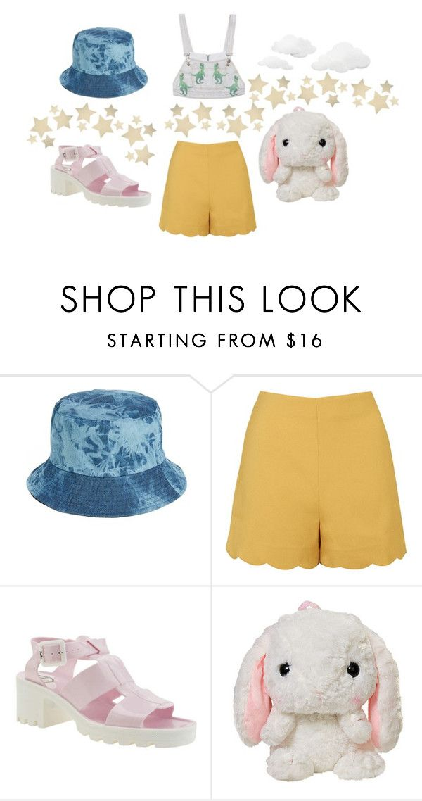 """""""Bucket Hat for a Sunny Day"""" by anthropolyvist on Polyvore featuring Amici Accessories, Topshop, JuJu, Bethany Lowe and buckethat"""