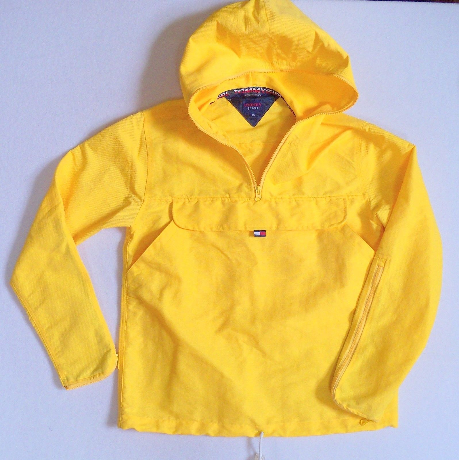 Tommy Girl Hilfiger Anorak Windbreaker Pullover Rain Coat Yellow ...