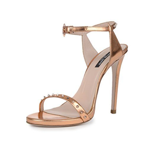 Ruthie Davis Womens Paris Mirror Rosegold Leather Platform Sandal 8 M US ** Be sure to check out this awesome product.(This is an Amazon affiliate link and I receive a commission for the sales)