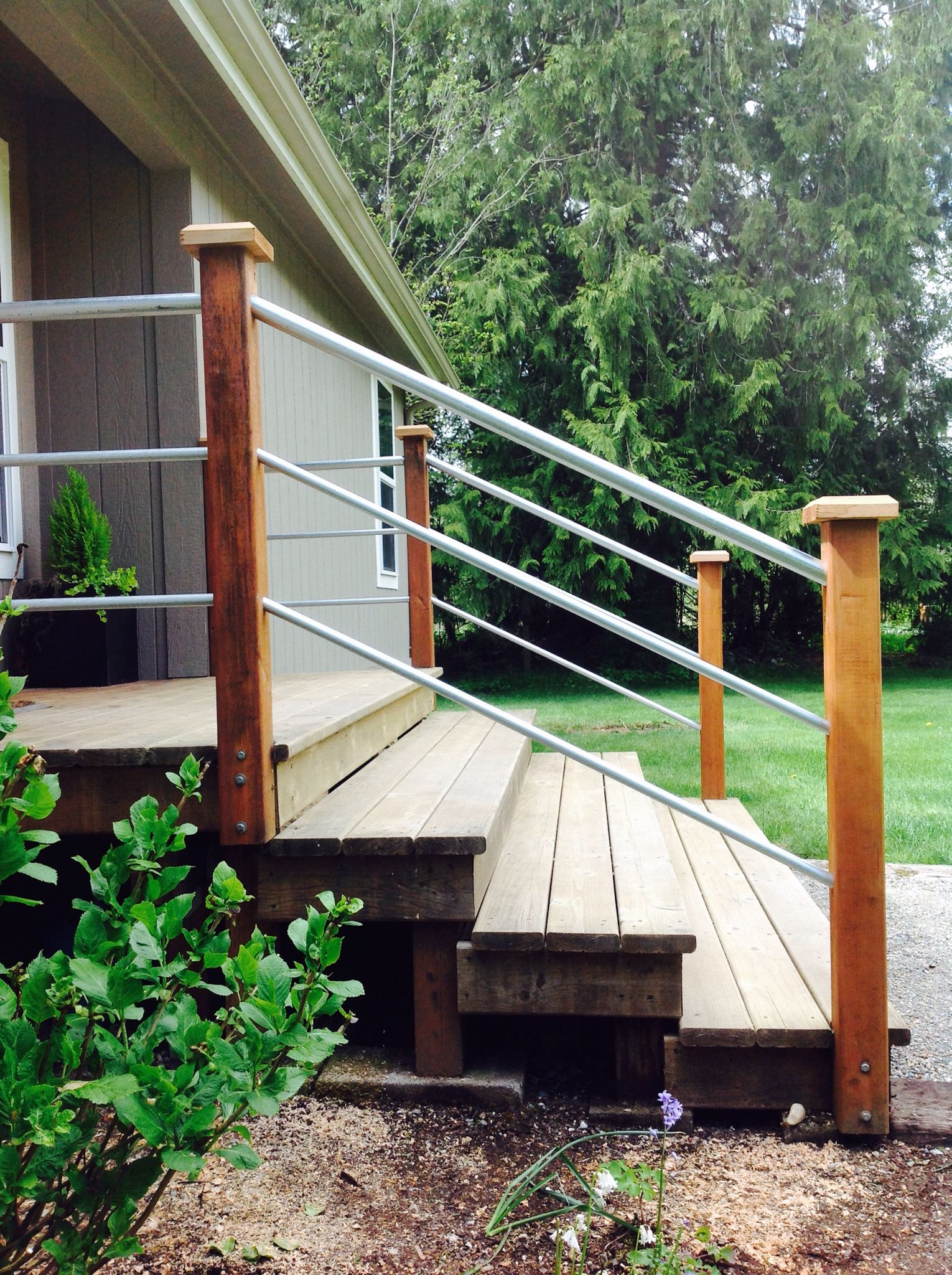 Front Porch Railing. Electrical Conduit From Home Depot. 3