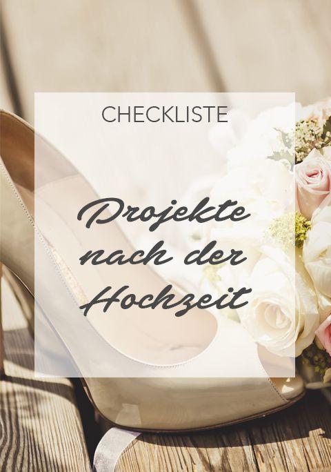 Projekte nach der Hochzeit: Was tun nach der Trauung ...