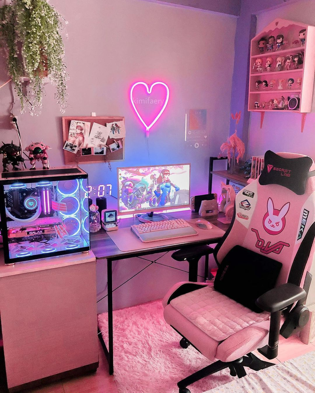 Kimi Kimifaery Posted On Instagram What Is This How Are We 4k Already Please Enjoy This Photo Of Gamer Room Decor Game Room Design Otaku Room Bedroom set genshin impact
