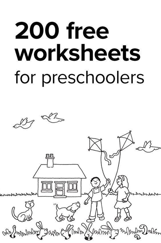 Over 200 Free Preschool Worksheets | pre-k homeschool | Pinterest ...