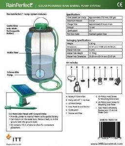 Solar Powered Rain Barrel Pump Living Green And Frugally Rain Barrel Rain Water Collection Solar Water Heating