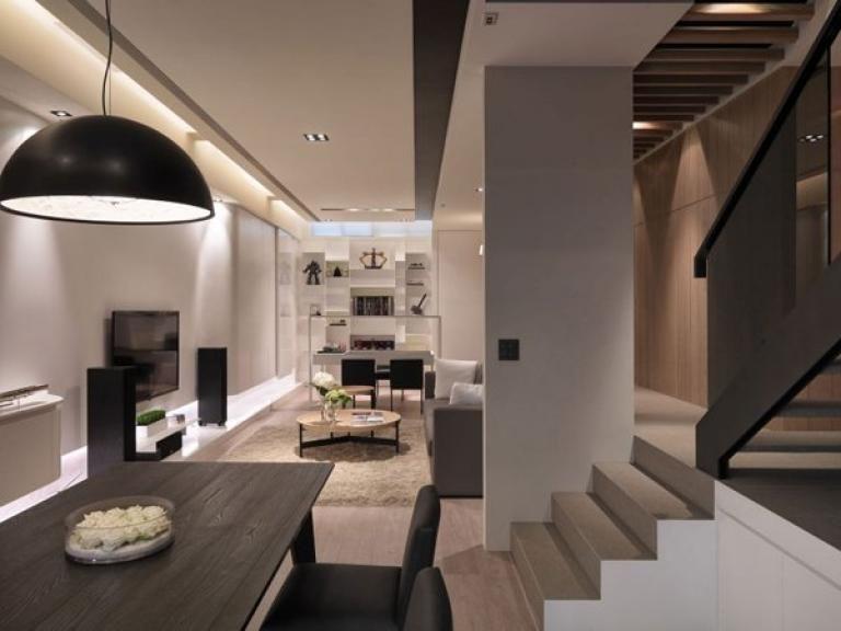 Elegant And Attractive Interior Design From Multilevel Apartments