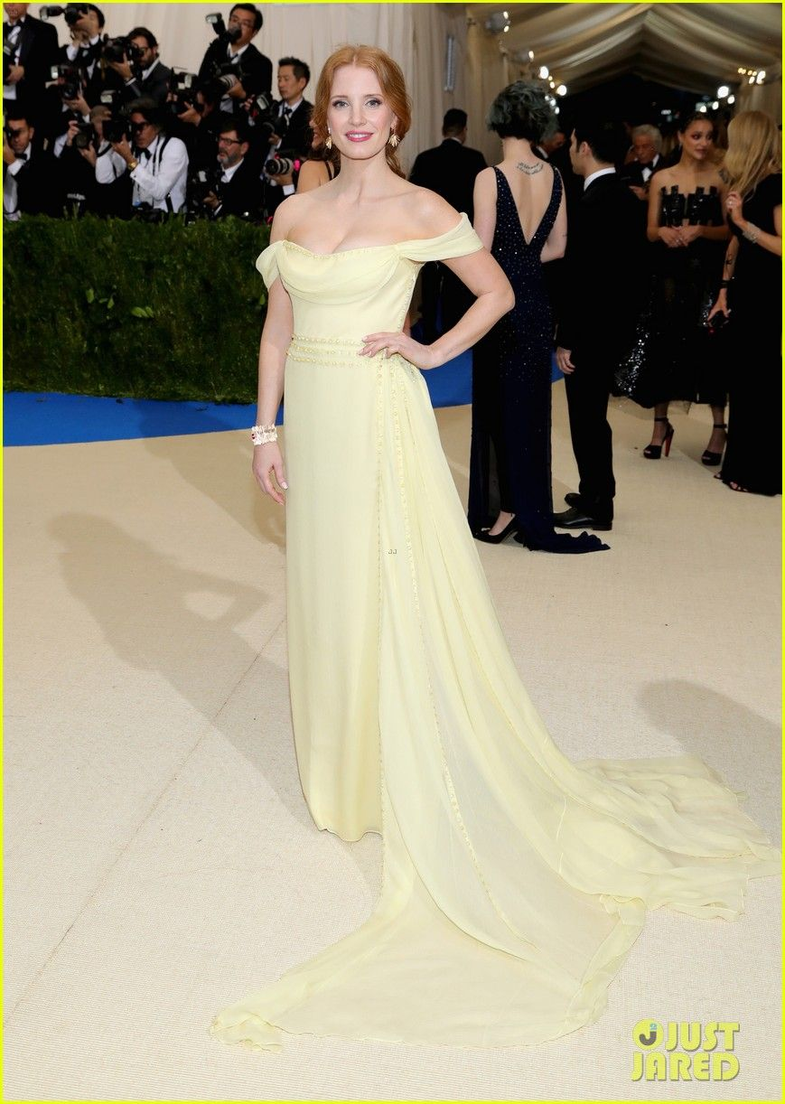 Jessica chastain stuns in prada for the met gala beautiful