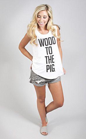 Woo Pig Muscle Tee Arkansas Woo Pig Sooie Muscle Tees