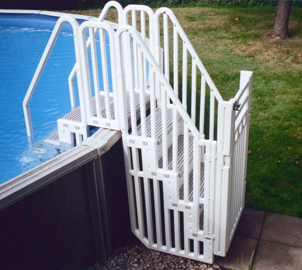 Confer sig safe secure above ground swimming pool step