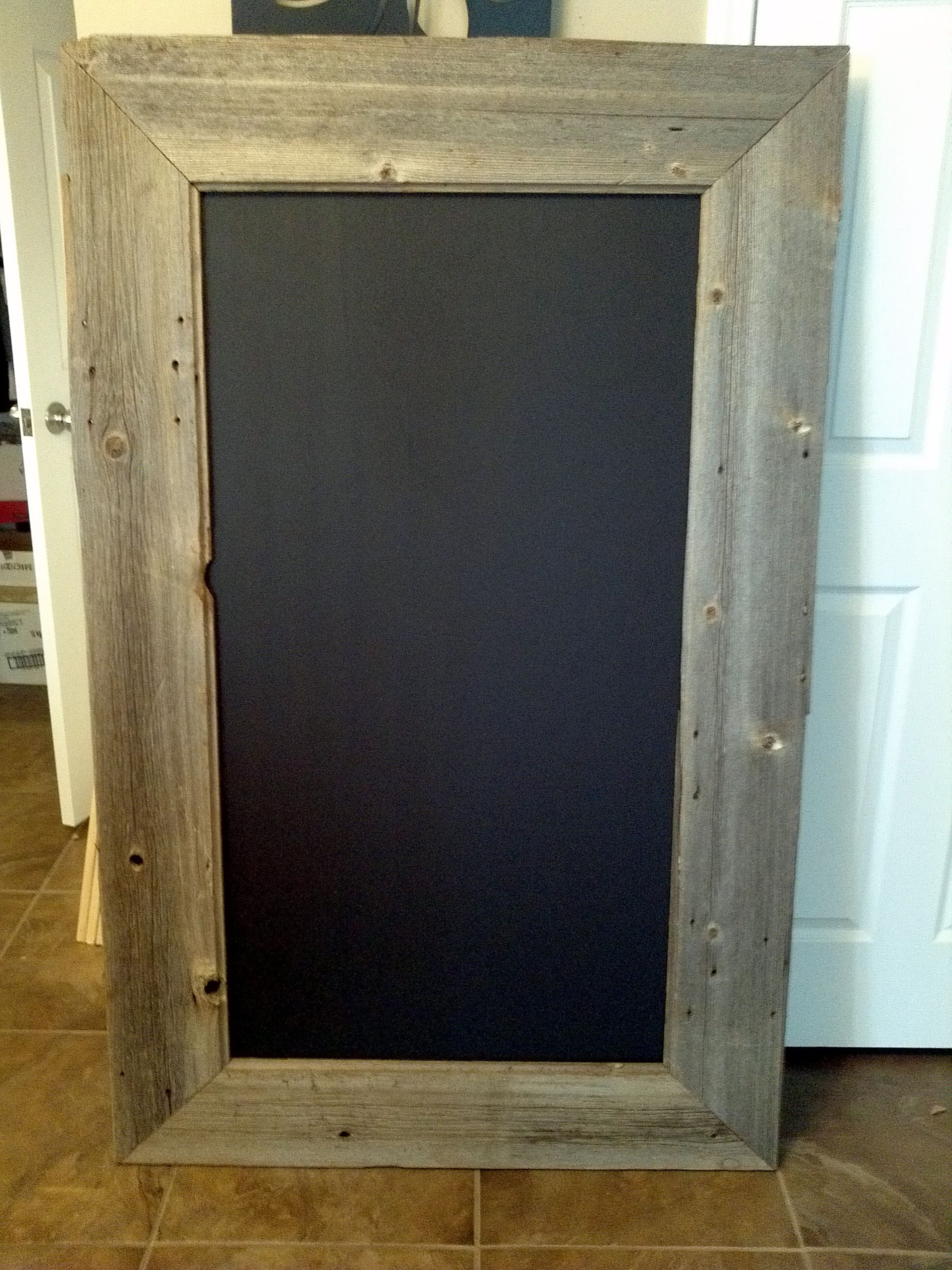 Old Barn Board Turned Into Chalkboard