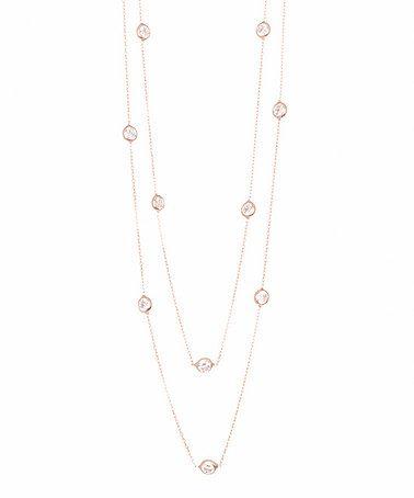 Look at this #zulilyfind! Rose Gold & Sterling Silver Necklace #zulilyfinds