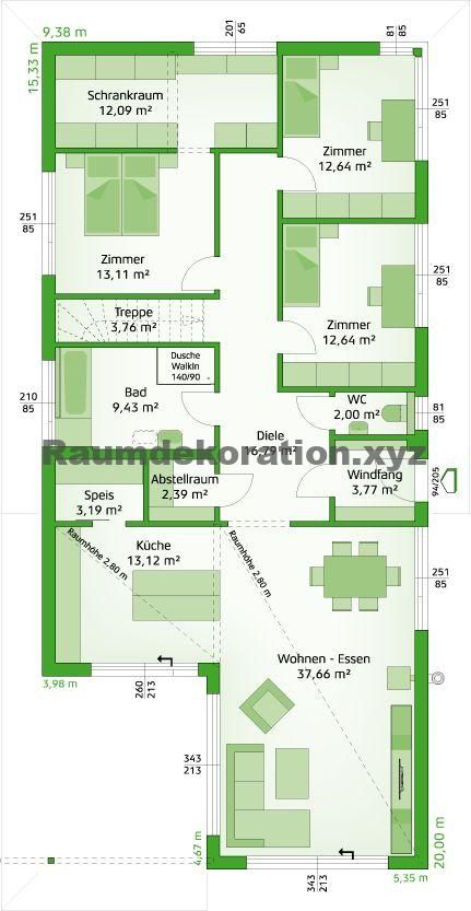 Baukunst Ideen Parterre (mit Bildern) Haus grundriss