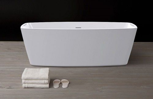 platzsparende freistehende Badewanne Badezimmer Pinterest