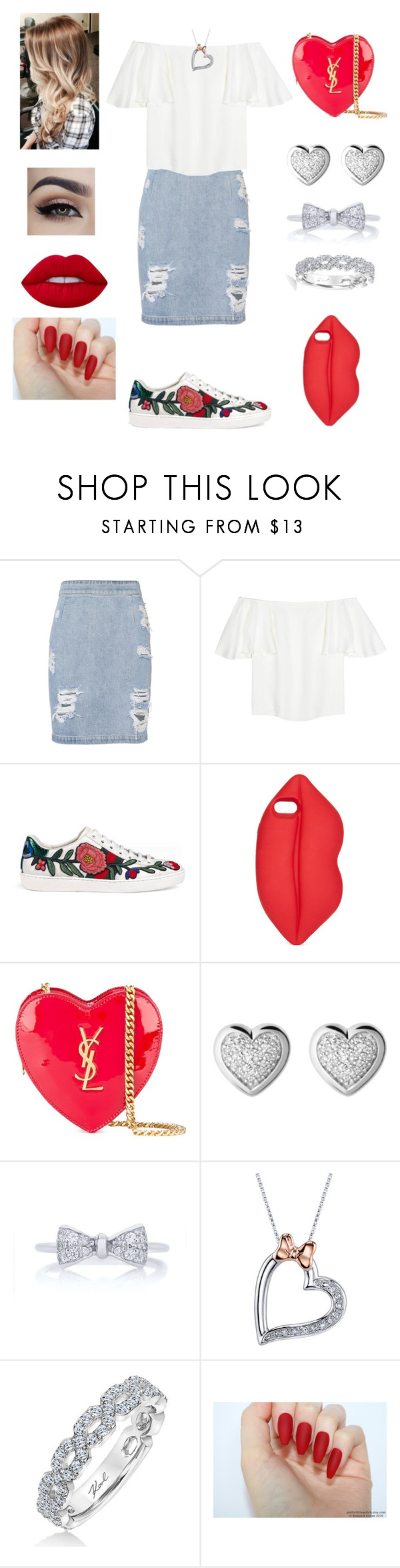 """Casual #24"" by qigfy ❤ liked on Polyvore featuring IRO, Valentino, Gucci, Lulu Guinness, Yves Saint Laurent, Links of London, Disney, Karl Lagerfeld and Lime Crime"