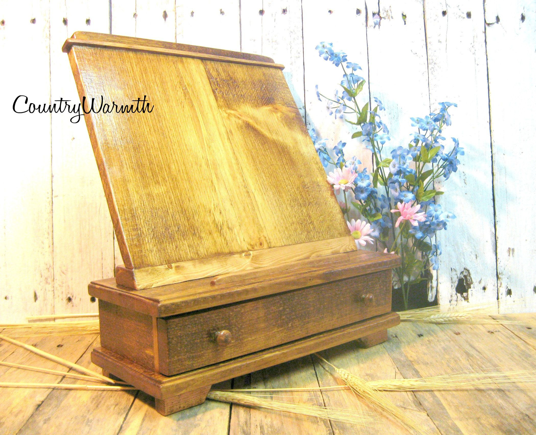 Sensational Mothers Day T Wood Ipad Stand Cookbook Holder Rustic Home Interior And Landscaping Palasignezvosmurscom