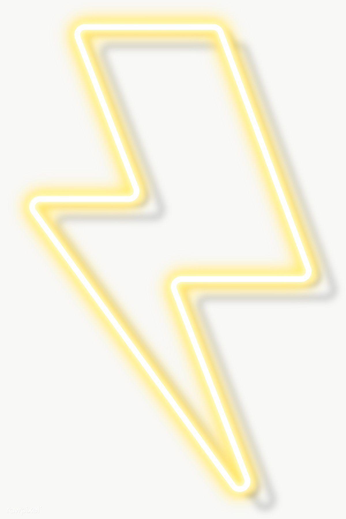 Download Premium Png Of Yellow Neon Lightning Sign Transparent Png