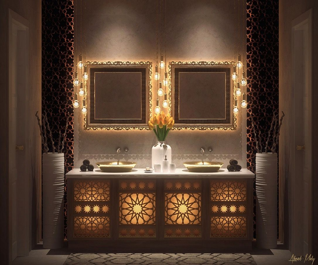Fabulous  Stunning Bathroom Design Ideas  Moroccan -  fort lauderdale bathroom mirror light