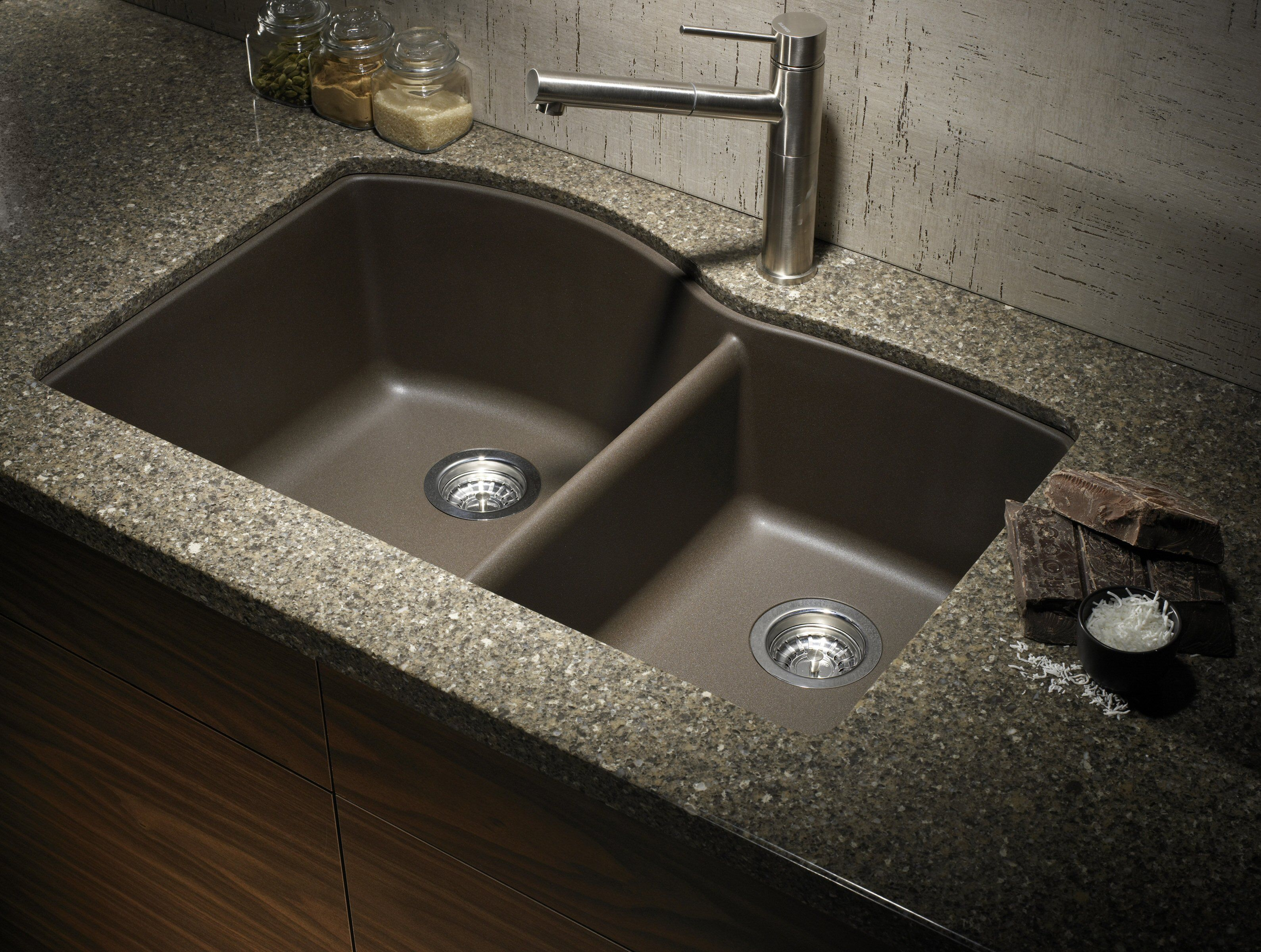 Composite Granite Kitchen Sinks How To Clean A Granite Composite Sink Composite Sinks Double