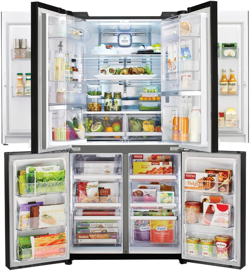 Lg 34 Cu Ft 4 Door French Door Refrigerator With Dual Door In