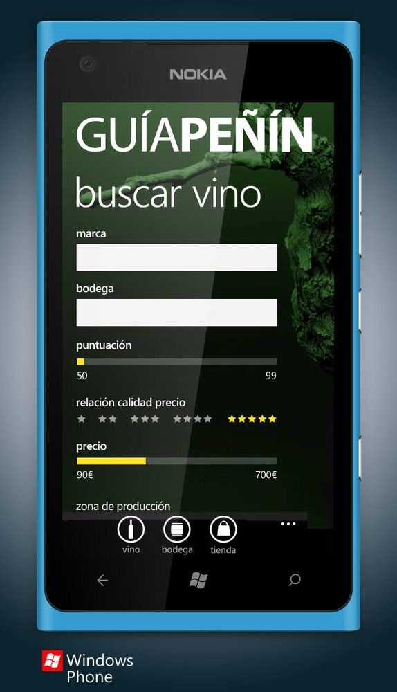 APP GUÍA PEÑIN - SPAINCREATIVE  Nokia App