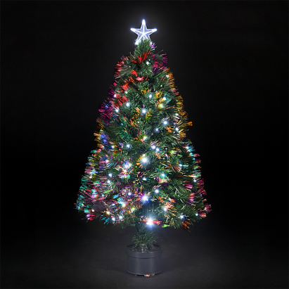 150cm/5ft Fibre Optic Saturn #Christmas Tree with Ice White LEDs #Xmas - 150cm/5ft Fibre Optic Saturn #Christmas Tree With Ice White LEDs