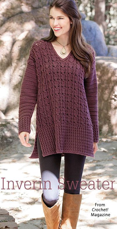 Inverin Sweater from the Winter 2017 issue of Crochet! Magazine ...