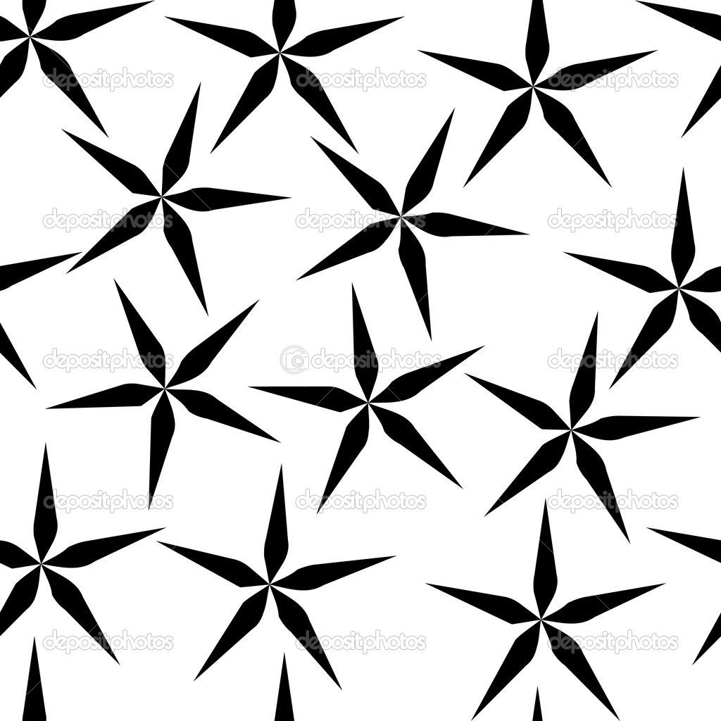 Simple Black And White Flower Seamless Flower Pattern ...