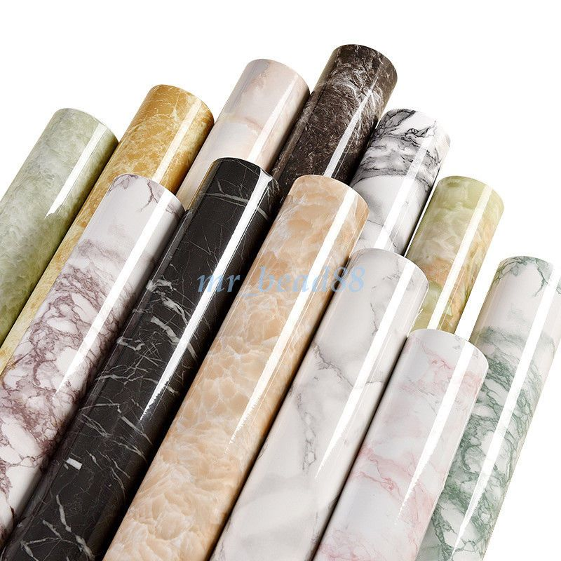 Marble Granite Contact Paper Self Adhesive Glossy Wallpaper Film Sticker Decal Self Adhesive Wallpaper Marble Vinyl Vinyl Wallpaper