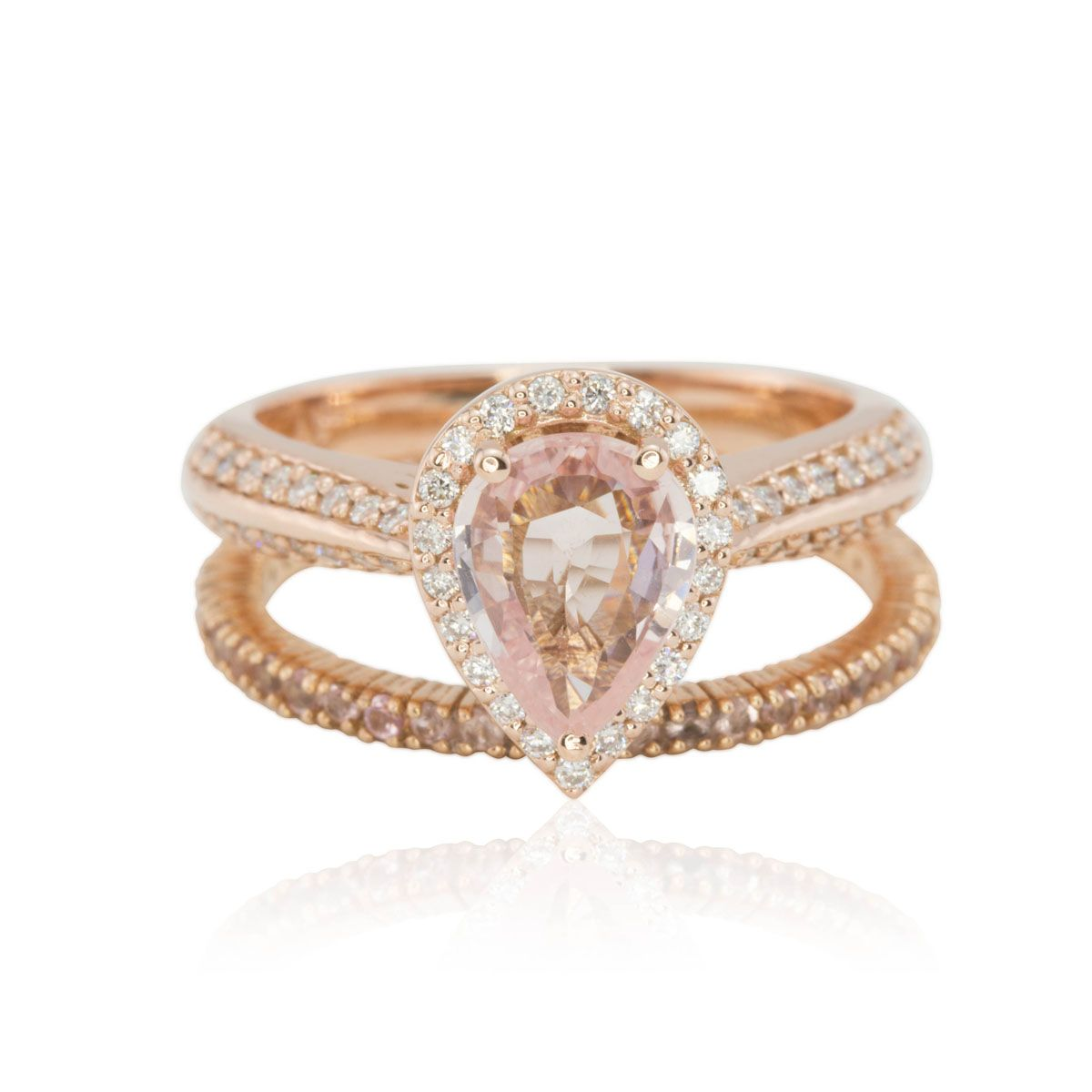 Pear Light Pink Shire Engagement Ring 2 Jpg