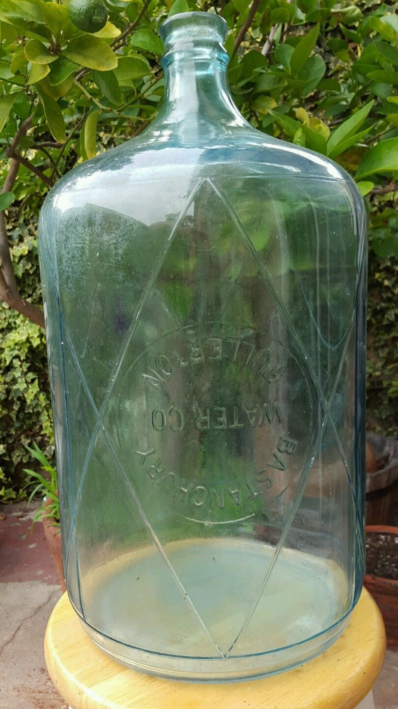 super rare bastanchury water co 5 gallon carboy blue glass. Black Bedroom Furniture Sets. Home Design Ideas