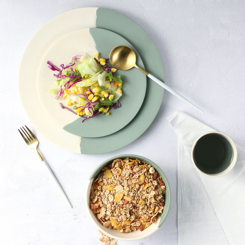 Morgiana Eco Friendly Bamboo Dinner Plates Set Bamboo Tableware Dinner Plates Tableware