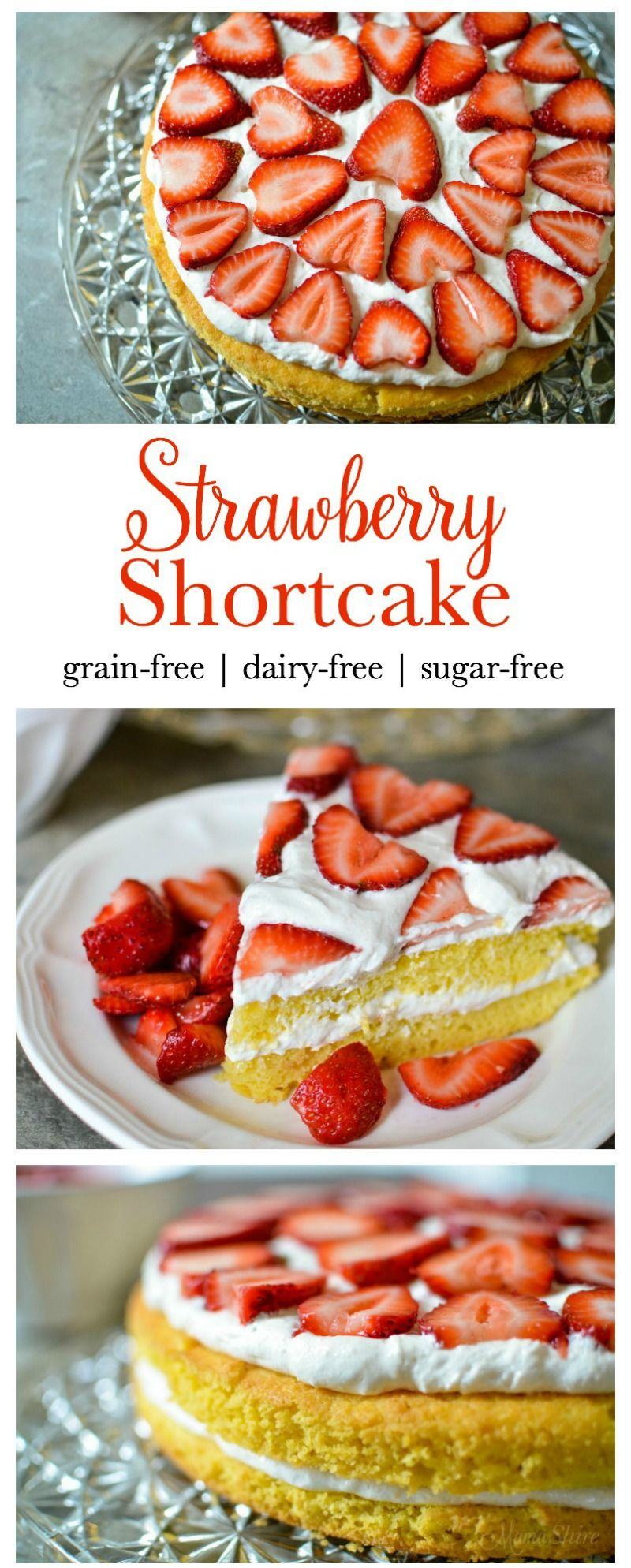 A delicious and healthy Strawberry Shortcake. Yummy shortcake with dairy-free frosting. Grain-free, Sugar-free, Low-carb Trim Healthy Mama - S