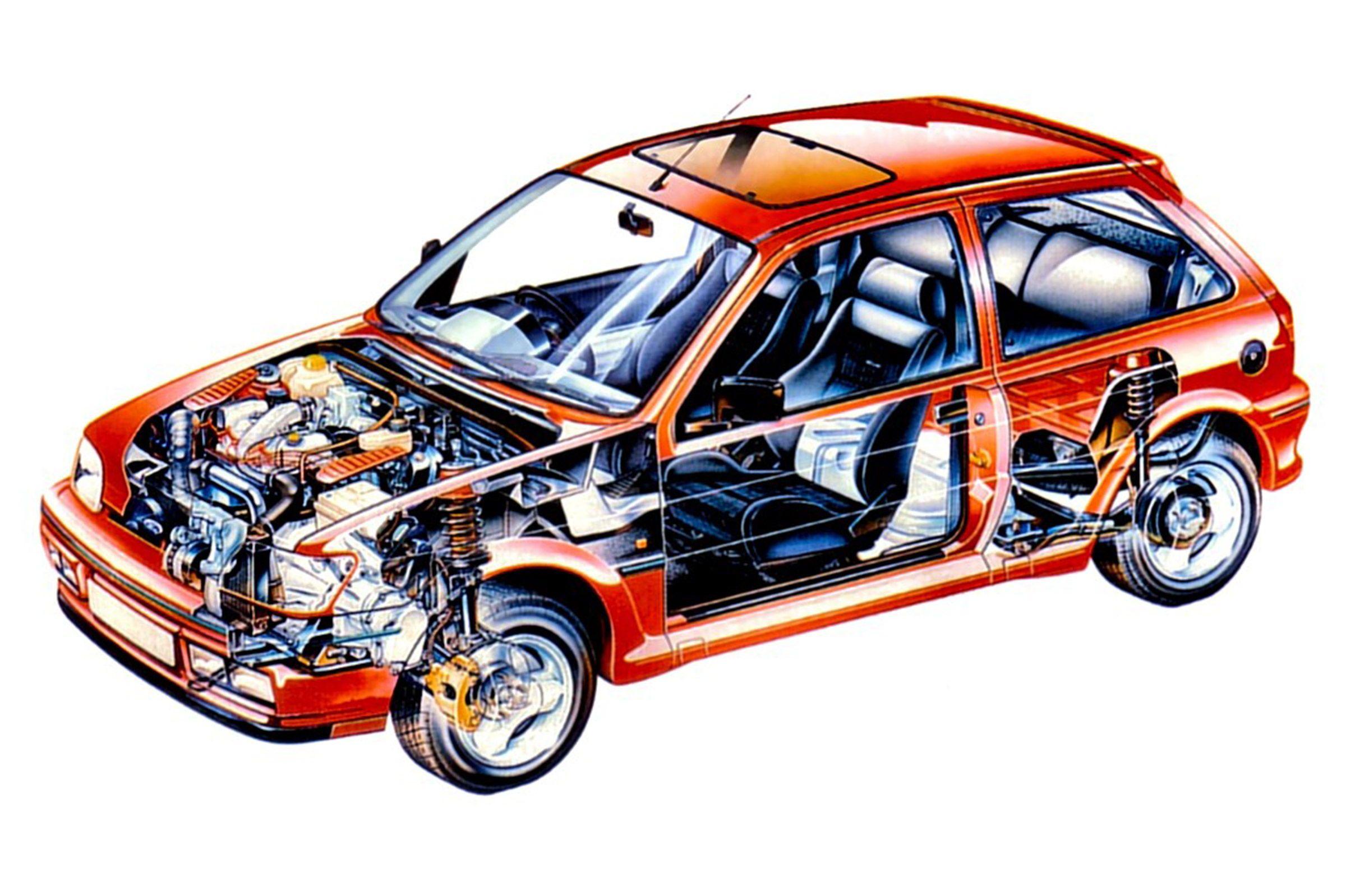 1990 1991 Ford Fiesta Rs Turbo 1 6 Sohc 4 Cylinder Cvh Garrett T2 Turbo Eec Iv Engine Control 133 Hp 134 Torque Ford B5 5 Speed Manual Open Different