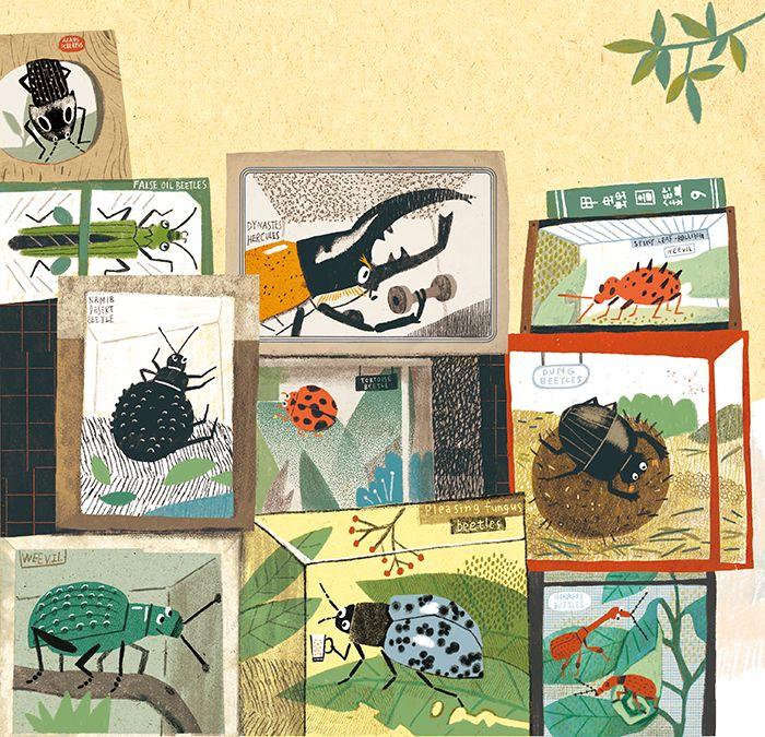 Illustration: huang linghsing #beetles