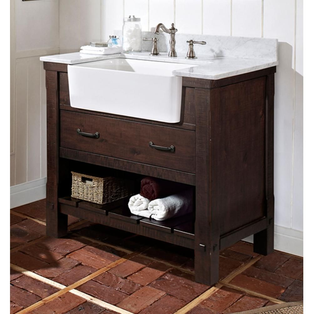 Fairmont Designs Napa 1506 Fv36 36 Farmhouse Vanity Aged Cabernet Farmhouse Bathroom Vanity Farmhouse Vanity Farmhouse Sink Bathroom Vanity