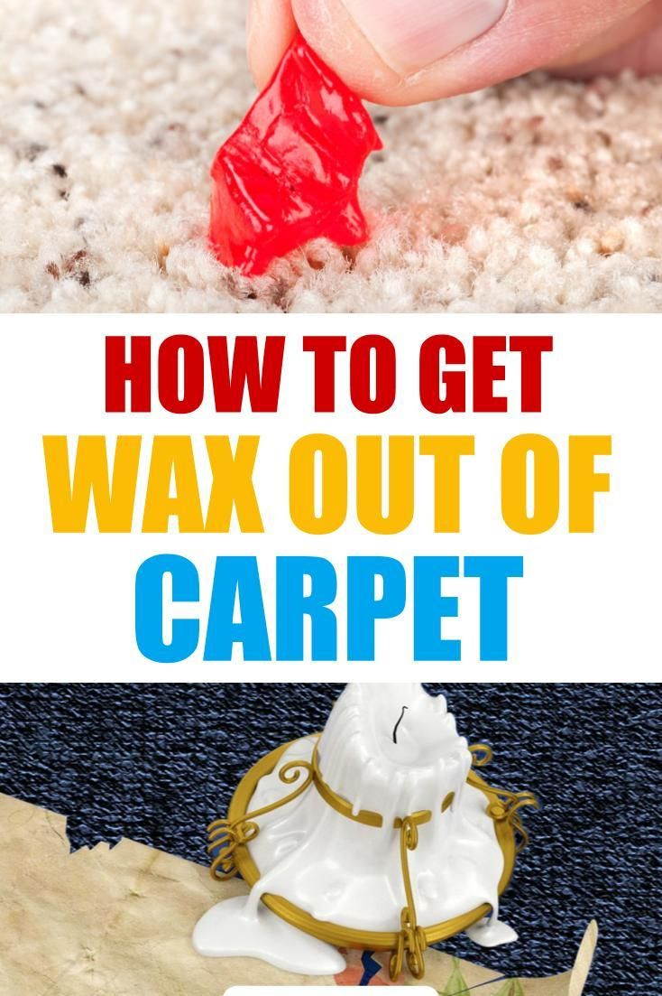 how to get candle wax out of carpet without an iron