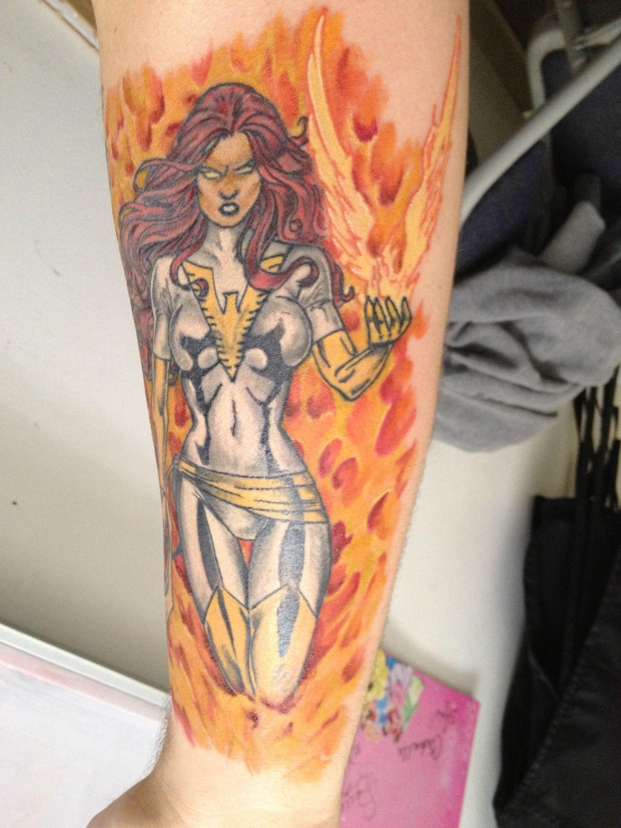 X Men Sleeve Jean Grey As White Phoenix Of The Crown Tattoo Ideas